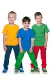 Petits garçons de mode sur le fond blanc Photo libre de droits