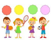 Petits garçons et filles, sport Images stock
