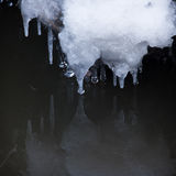 Petits glaçons ronds au-dessus de l'eau Photo libre de droits