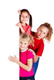 Petits gosses riants Photographie stock libre de droits