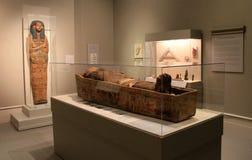 Petits groupes complexes dans l'objet exposé égyptien, institut d'Albany de l'histoire et art, New York, 2016 Photo libre de droits