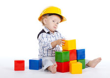 Petits jeux d'ingénieur avec des cubes Photographie stock