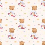 Petits jeux de Teddy Bear dans le trou Photos stock