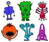 Petits monstres illustration de vecteur