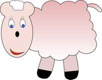 Petits moutons heureux Images libres de droits