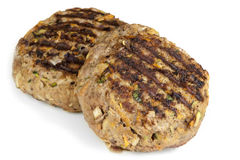 Petits pâtés sains d'hamburger d'isolement Photos libres de droits