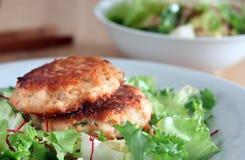 Petits pâtés saumonés Photo stock