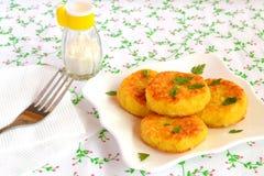 Petits pâtés végétariens de riz Recette pour jeûner, régime Photographie stock libre de droits