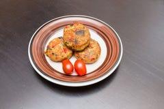Petits pâtés végétaux Photos stock