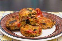 Petits pâtés végétaux Photo stock
