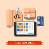 Petits paiements de commerce de détail Photo stock