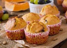 Petits pains appétissants et vermeils avec le potiron Photo libre de droits