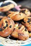 Petits pains avec des raisins secs Photos libres de droits