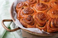 Petits pains avec le plan rapproché de cannelle Photo libre de droits