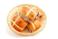 Petits pains croisés chauds Photo stock