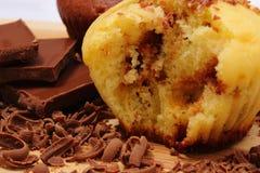 Petits pains cuits au four frais, râpés et partie de chocolat Photos stock