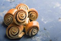 Petits pains cuits au four tordus délicieux Image libre de droits