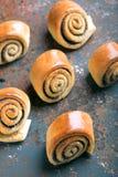 Petits pains cuits au four tordus délicieux Photographie stock