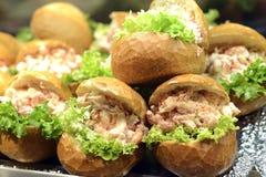 Petits pains délicieux de fruits de mer image libre de droits
