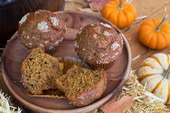 Petits pains délicieux de potiron Photo stock