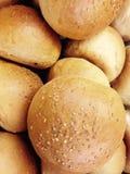 petits pains d'hamburger, petits pains d'or d'hamburger images libres de droits