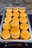 Petits pains d'hamburger de réception de mariage Images libres de droits