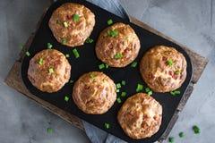 Petits pains d'oeufs de petit déjeuner de protéine photos stock