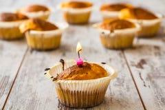Petits pains dans des supports de petit gâteau Image stock