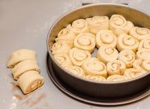 Petits pains de cannelle Images libres de droits