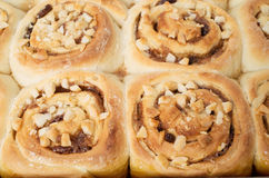 Petits pains de cannelle collants faits maison Images libres de droits