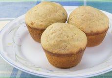 Petits pains de cannelle dans un plat Images libres de droits