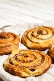 Petits pains de cannelle traditionnels Photographie stock