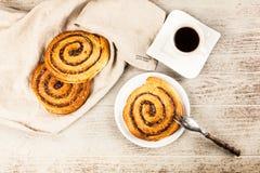 Petits pains de cannelle traditionnels Photos libres de droits