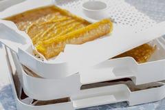 Petits pains de cuir de fruit, tir de plan rapproché Photo stock