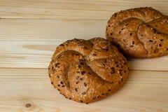 Petits pains de farine brute photo stock