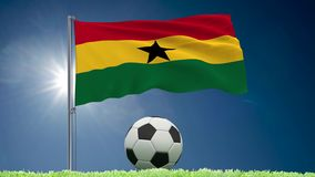 Petits pains de flottement et de football de drapeau du Ghana clips vidéos