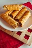 Petits pains de gaufre photographie stock libre de droits