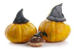 Petits pains de Halloween avec des potirons Image stock