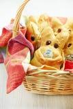 Petits pains de lapin de Pâques Photographie stock