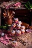 Petits pains de myrtilles Photographie stock libre de droits