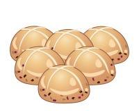 Petits pains de Pâques Images libres de droits