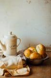 Petits pains de pain à l'ail avec l'ail Petit pain de pain avec l'ail maison luxuriante Photographie stock