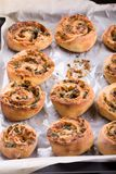 Petits pains de petit pain de fromage avec des herbes photos stock