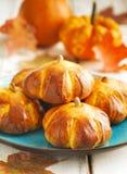 Petits pains de potiron photo libre de droits