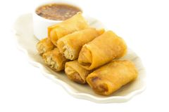 Petits pains de ressort, croquettes chinoises faites maison ou Fried Chinese Traditional Sp image stock