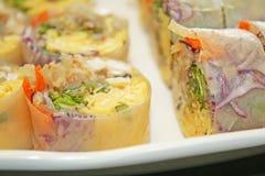 Petits pains de ressort frais thaïlandais photos libres de droits