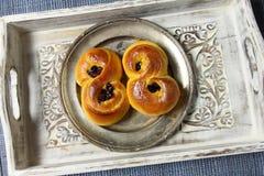 Petits pains de safran Photos libres de droits