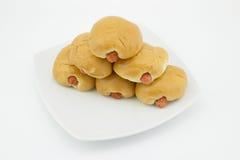 Petits pains de saucisse Photo libre de droits