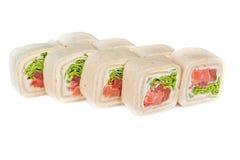 Petits pains de sushi de crêpe Image libre de droits