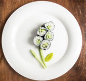 Petits pains de sushi de Vegan Photo libre de droits